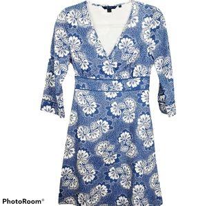 Boden 100% Cotton Blue And White Tea Dress Size 10